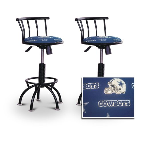 "2 24""-29"" Dallas Cowboys Seat Black Adjustable Specialty / Custom Barstools Set front-1014292"