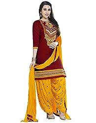 Shree Fashion Woman's cotton cotton nazneen Red