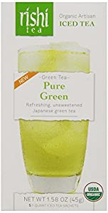 Rishi Tea Iced Tea, Pure Green, 1.58 Ounce