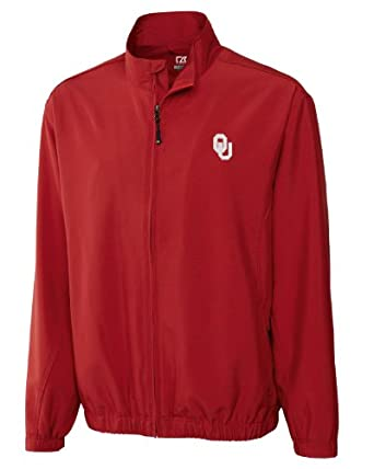 Oklahama Sooners Big and Tall CB Wind Tec Astute Full Zip Wind Shirt by Cutter & Buck