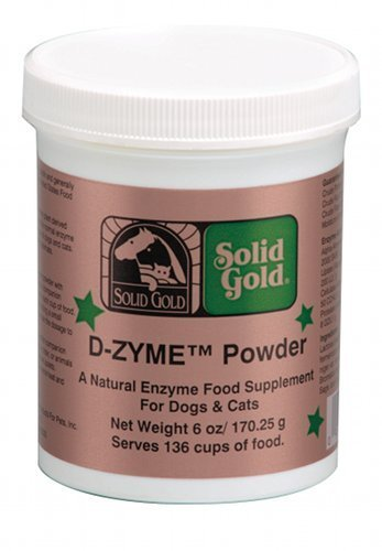 Solid Gold D-Zyme Digestive Enzyme Powder Supplement for Dog and Cats, 6oz
