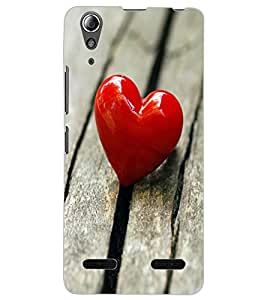 ColourCraft Loving Heart Design Back Case Cover for LENOVO A6000