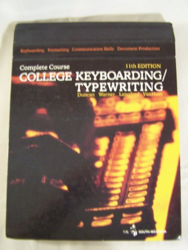 College Keyboarding/Typewriting: Complete Course