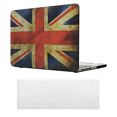 Joe British Flag Design Pc Hard Case With Keyboard Cover Skin For Macbook Retina , 15.4""