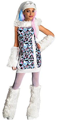 girls - Monster High Abbey Bominable Child Costume Md Halloween Costume