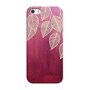 EYP Golden Leaves Pattern Back Cover Case for Apple iPhone 5