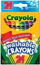 Bulk Buy: Crayola Washable Crayons 24/Pkg 52-6924 (3-Pack)
