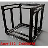 Zamtac BLV MGN Cube Frame Extrusion & MGN Rails for DIY Anet E12 300x300 Heated Bed 3D Printer Z Height 665MM - (Size: Black) (Tamaño: Black)