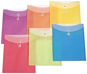 Filexec Poly envelope, Letter size,Assorted (Pack of 6) (50060-1492)