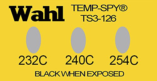 Wahl Instruments TS3-232C Low Cost Temp-Spy Series Label, 3 Position, 232, 240 and 254 degrees C (Pack of 20)