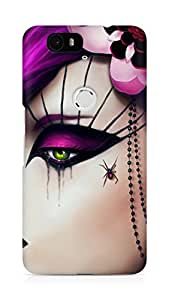 Amez designer printed 3d premium high quality back case cover for Huawei Nexus 6P (Girly 1)