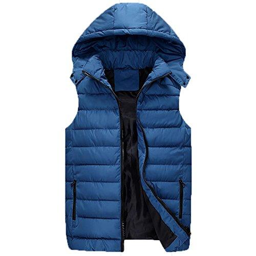 YUYU giubbotto Moda inverno ispessito giù uomo, tenere al caldo all'aperto per adulti , 2xl , light blue
