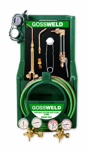 Goss KA-325-M12P Series M12 Welding, Brazing and Cutting Kit with MC Acet Reg and Plastic Stand C-1200P