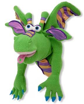 Smoulder the Dragon Hand Puppet - (Child)