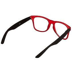 Eyeland Non-Polarized Wayfarer Sunglasses (Red, EYE222)