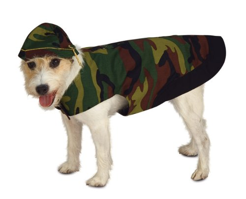 [Rubies Costume Halloween Classics Collection Pet Costume, Small, Camo Dog] (Army Dog Costumes)