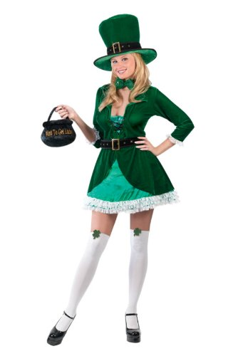 Luscious Leprechaun Adult Sm-Md Adult Womens Costume