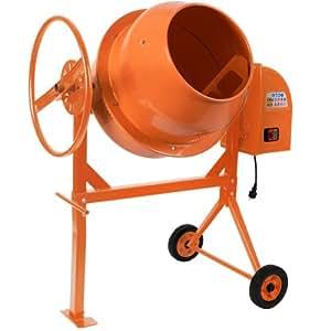 Betonmischer Mörtelmischer Rührwerk 140 Liter / 650 Watt, stabiles Stahlgestell Intertek GS getestet