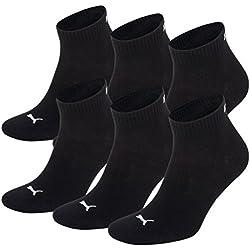 PUMA Unisex Quarters Socken Sportsocken 6er Pack black / black 200 - 43/46