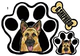 PAWパウ犬ステッカー/ジャーマンシェパード 1/ 足跡/パウステッカー/シール/ 雑貨 グッズ 車