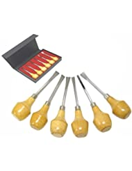 6 Piece Wood Carving Set by 