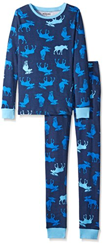 Hatley Kids Pj Set-Blue Moose, Pigiama Bambino, Blu, 8 Anni