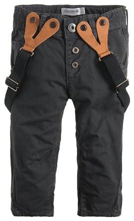 Noppies Pantalon  Bébé garçon - Gris - Grau (anthracite) - FR : 6 ans (Taille fabricant : 116)
