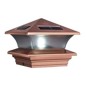 McFarland Cascade Terratec Solar Post Cap Copper Fits 4x4 Inch Post Decki