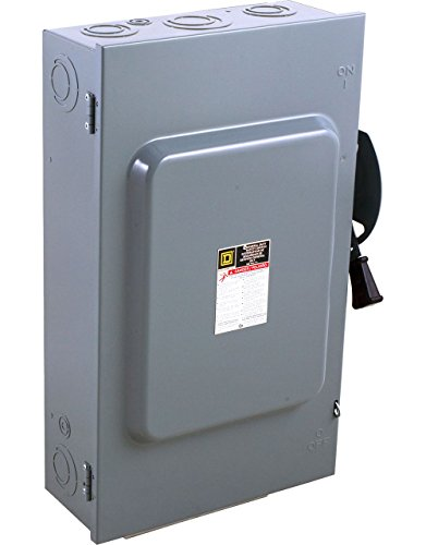 Square D by Schneider Electric DU324 200-Amp 240-Volt 3-Pole Non-Fusible Indoor General Duty Safety Switch, ,