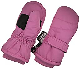 Children Toddlers and Baby Mittens Made With Thinsulate,and Fleece - Winter Waterproof Gloves By Zelda Matilda, Dark Pink, 1 - 2 years