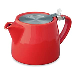 FORLIFE Stump 18-Ounce Teapot with SLS Lid and Infuser, Red by FORLIFE
