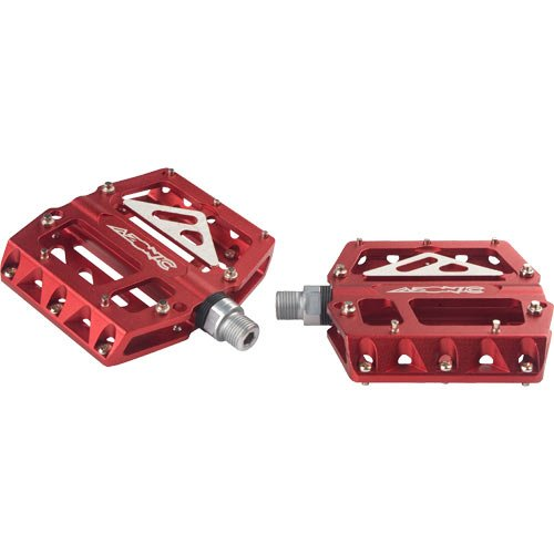 O Neal Azonic 420 Flat Bicycle Pedals (Anodized Red)