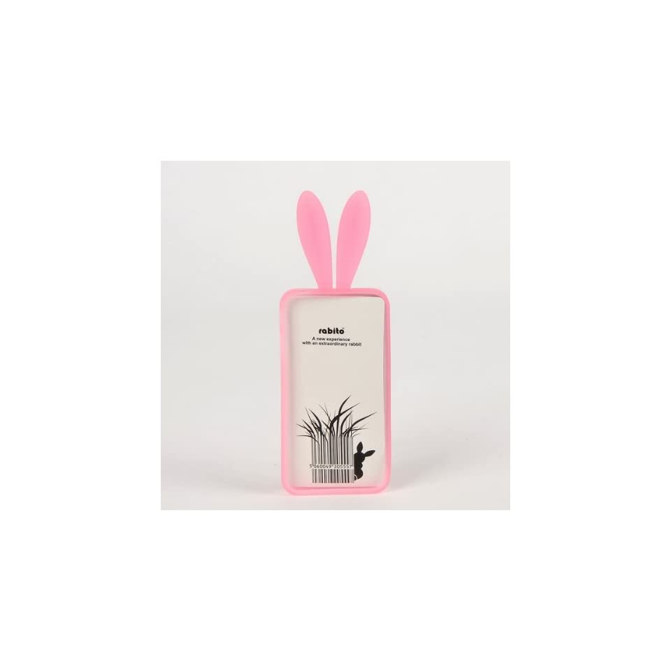 Rabito Bunny For iPhone 4 Rubber Skin Back Case Pink