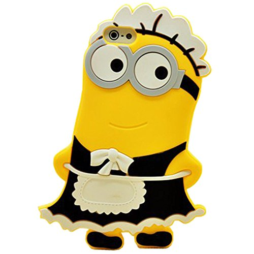 Weiduka® 3D Cartoon Silicone Phone Case Protective Cover for Apple iPhone 4 4s 4g (Minions-Maid) (Iphone 4 Silicone Cover compare prices)