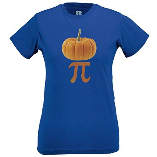Pumpkin Pi Mathmatical Symbol Nerdy Organic Pun Maths Funny Humor Gift Womens T-Shirt (Blue Rasberry Extract compare prices)