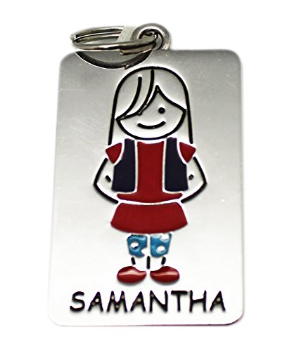 Ganz Kids Tag Charms - My Kids Keyring and Necklace - SAMANTHA