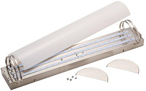 Brushed Nickel Led Bathroom Light By Kuzco Lighting: Cloudy Bay LBVT2524830BN 24-inch 3000K Warm White 100-277V
