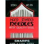 5 x 20 Sharps Hand Sewing Needles Emb...