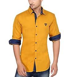 Ecohawk Yellow Casual Slim Fit Shirt 8065-C