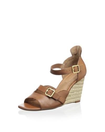 Corso Como Women's Hello Wedge Sandal  [Luggage Vintage Calf]