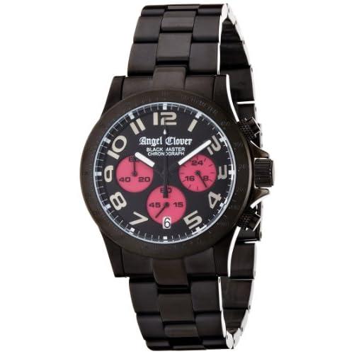 [エンジェルクローバー]Angel Clover 腕時計 ブラックマスター ブラック/ピンク文字盤 ステンレス(BKPVD)ケース ステンレス(BKPVD)ベルト デイト 10気圧防水 クロノグラフ BM41BBP メンズ