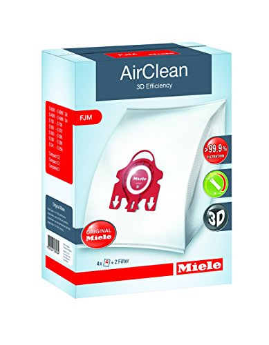 Miele AirClean 3D Efficiency Dust Bag, Type FJM, 4 Bags & 2 Filters (Miele Vacuum Bags Fmj compare prices)