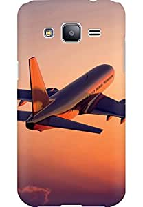 AMEZ designer printed 3d premium high quality back case cover for Samsung Galaxy j2 (aeroplane)