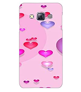 SAMSUNG GALAXY A3 HEARTS Back Cover by PRINTSWAG