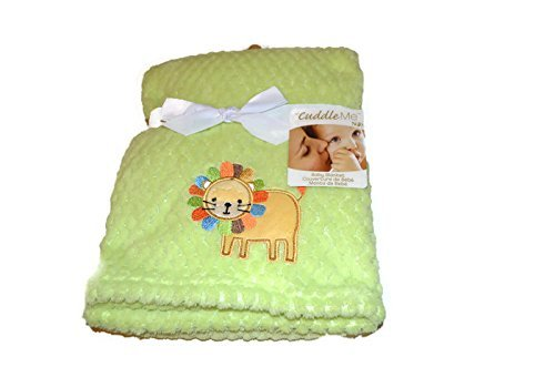 Cuddle Me Baby Blanket by NoJ0-Green with Lion - 1