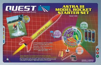 Astra III Model Rocket Starter Set (with engines) Quest Rockets