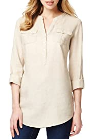 M&S Collection Pure Linen Long Sleeve Shirt [T41-7027L-S]