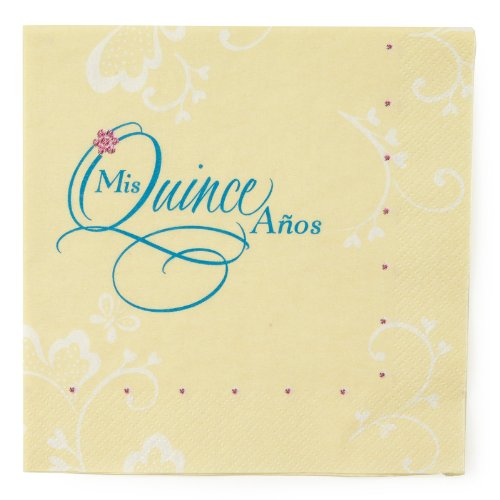 Mis Quince Lunch Napkins (36 count)