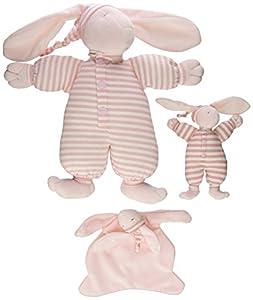 North American Bear Sleepyhead Bunny Toy Set, Pink