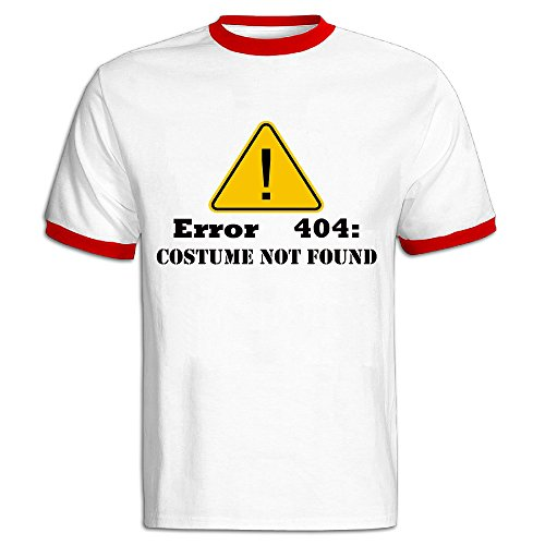 [Error 404 Halloween Costume Not Found T Shirt Mens Short Sleeve] (Flavor Of Love Halloween Costume)